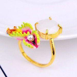 Les Nereides Carnivorous Flowers&Fish Ring